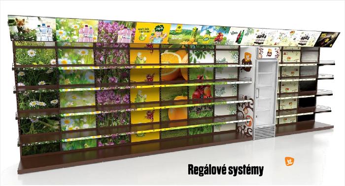 Kofola, regálové systémy pro menší prodejny