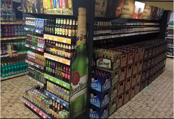 Plzeňský Prazdroj sekce ovocných piv