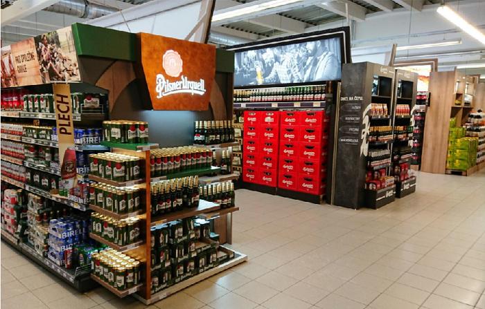 Výrazně přestavěná nápojová sekce, zdroj: Jednota - Terno České Budějovice