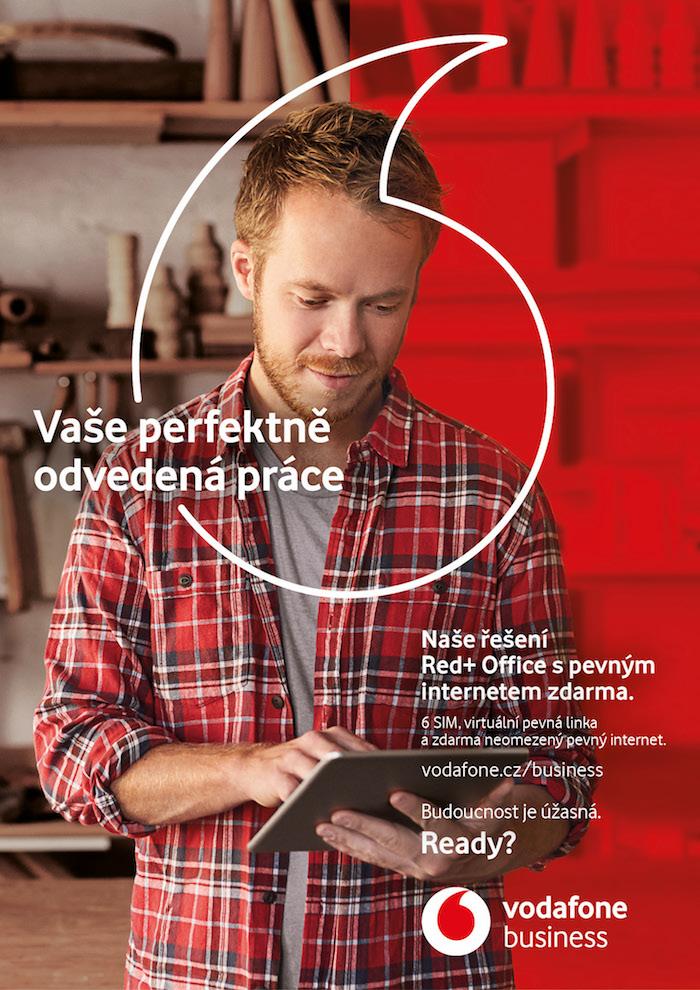 Klíčový vizuál ke kampani nové značky Vodafone Business, zdroj: Vodafone