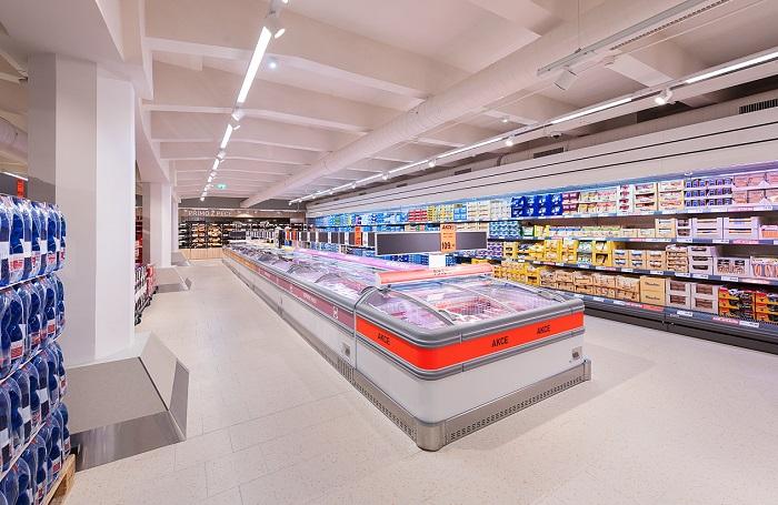 Ač se prostor zdá omezený, zákazníci zde najdou stejný sortiment jako ve kterékoli jiné prodejně, zdroj: Lidl.