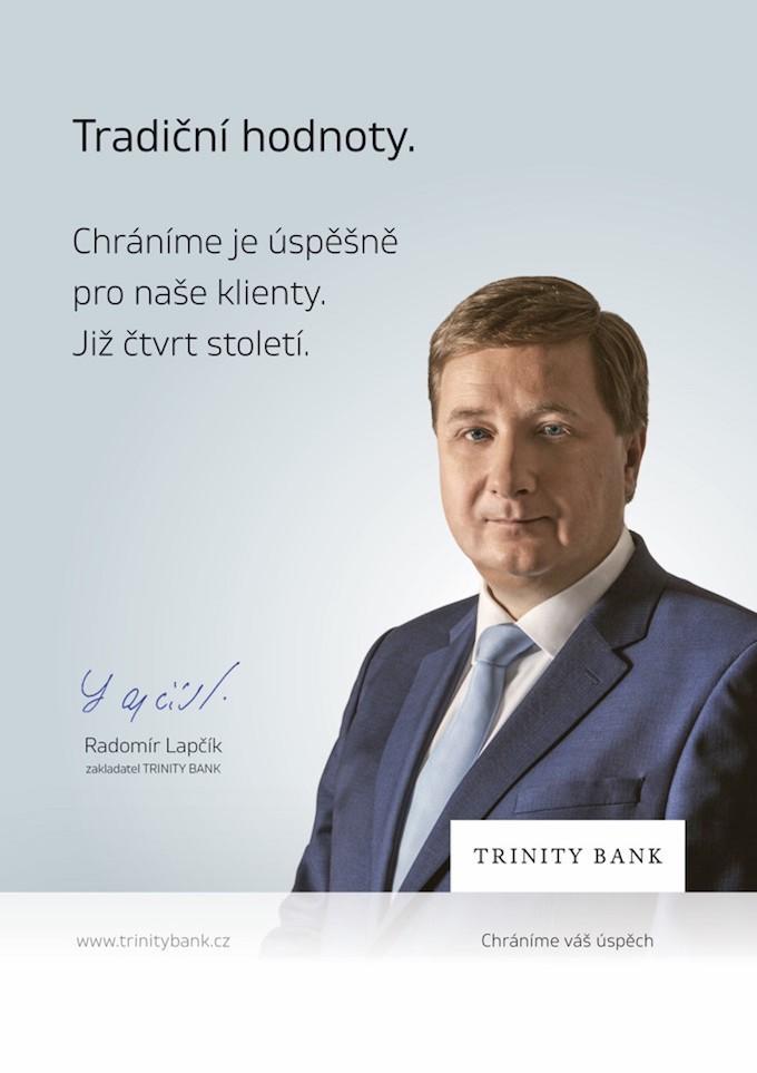 Klíčový vizuál ke kampani Trinity Bank, zdroj: Trinity Bank