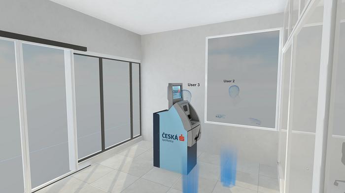 Novou pobočku si Česká spořitelna nechala vytvořit ve virtuální realitě, zdroj: Česká spořitelna.
