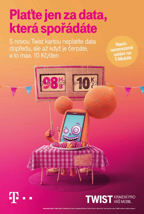 Klíčový vizuál k nové kampani na Twist karty, zdroj: T-Mobile