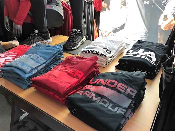 Prodejna Under Armour v pražském OC Smíchov