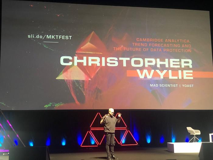 Christopher Wylie na letošním Marketing Festivalu, foto: MediaGuru.cz