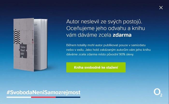 Příklad okna, které se objeví po rozkliknutí reklamy s falešnou slevou, zdroj: O2.