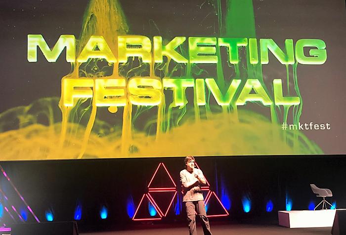 Dan Ariely na Marketing Festivalu, foto: MediaGuru.cz
