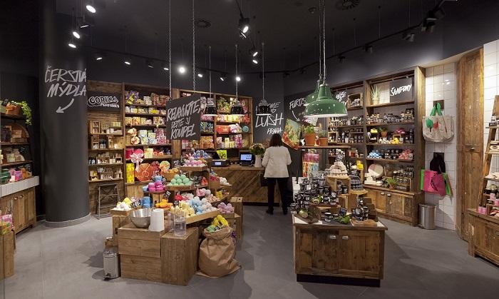 Prodejny Lush, v Česku má firma dva obchody, oba v Praze. Zdroj: Lush