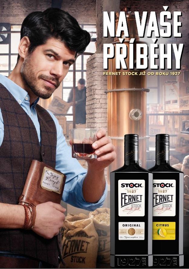 Vizuál s postavou Lionella Stocka v kampani značky Fernet Stock, zdroj: Stock Plzeň – Božkov
