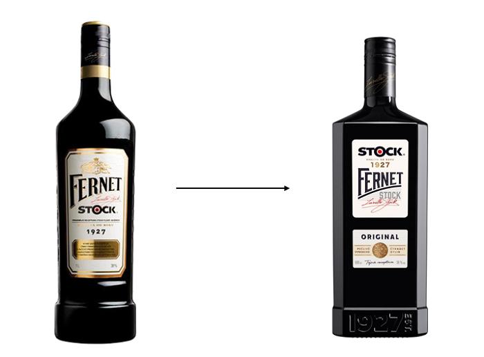 Nová lahev je menší, širší a hranatá, zdroj: Stock Plzeň – Božkov.