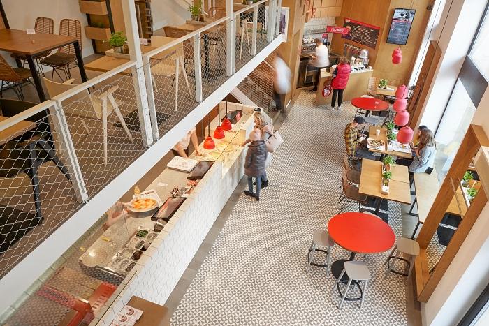 """První kamennou restauraci má 360pizza na dejvickém """"Kulaťáku"""", zdroj: 360pizza."""