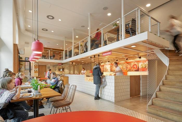 V restauraci 360pizza si lidé objednávají přes kiosky, zdroj: 360pizza.