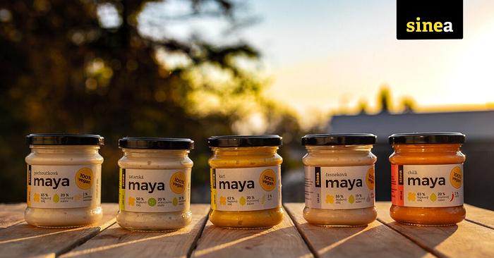 Startovacím produktem byly Maya omáčky ze skupiny rostlinných majonéz a dresinků, zdroj: FB Sinea