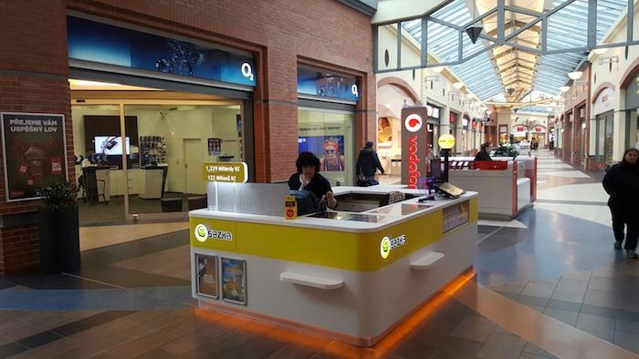 Ukázka prodejního ostrůvku Sazka v obchodním centru, zdroj: Sazka