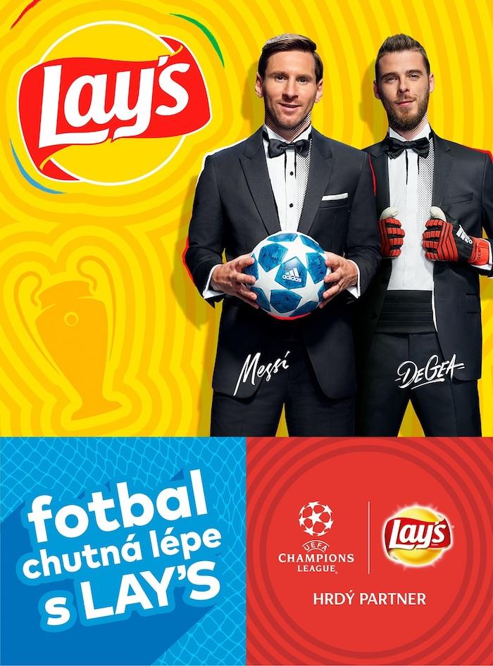 Klíčový vizuál k fotbalové kampani chipsů Lay's, zdroj: PepsiCo