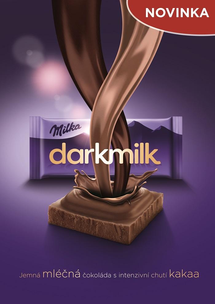 Klíčový vizuál k novince Milka Darkmilk, zdroj: Mondelēz