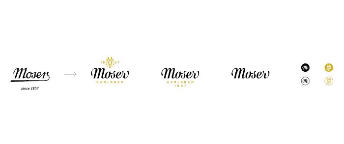Změna vizuální identity značky Moser, zdroj: Moser