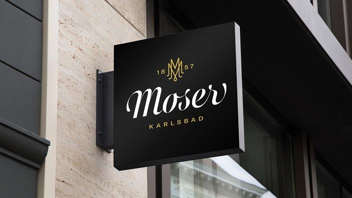 Nové logo sklářské značky Moser, zdroj: Moser