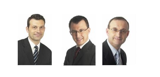 Tomáš Tkačík, Hynek Paťorek, Václav Bednář, foto: Business Media CZ