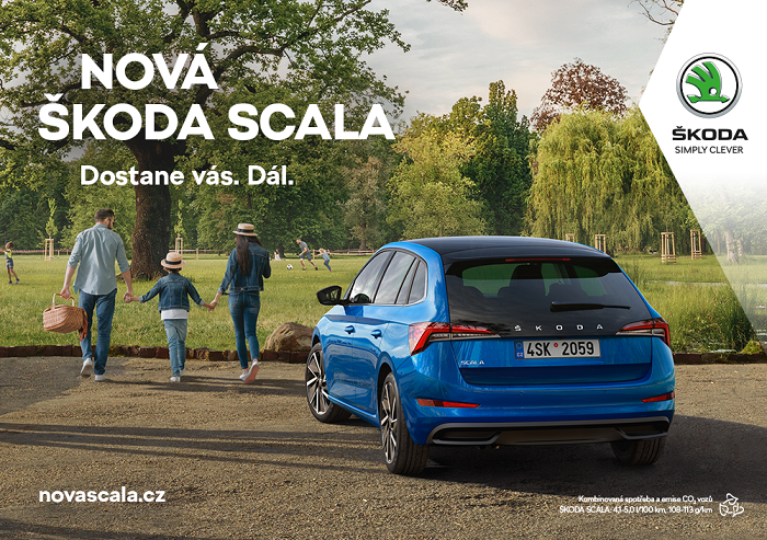 Klíčový vizuál k nové Škodě Scala, zdroj: Škoda Auto