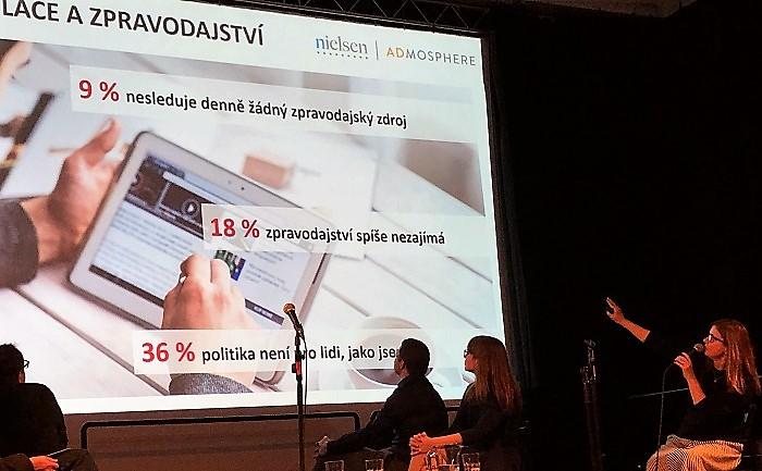Hana Friedlaenderová na konferenci Novinářské fórum, foto: MediaGuru.cz