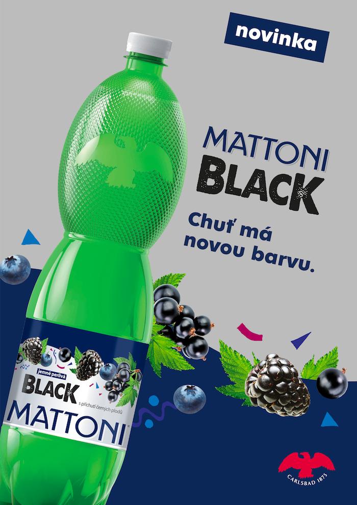 Klíčový vizuál na podporu novinky Mattoni Black, zdroj: KMV