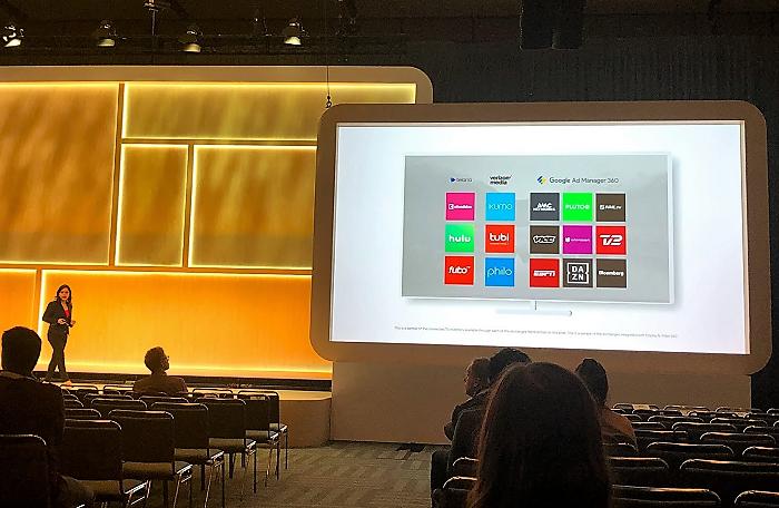Ukázka dostupného videoinventory pro RTB reklamu v TV. Google Marketing Live 2019