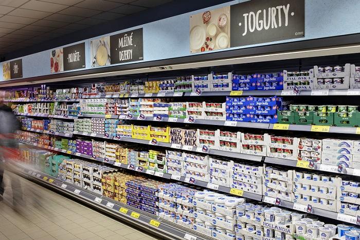 Řetězec nabízí také okolo 640 výrobků celkem 25 vlastních značek. Loni prošla redesignem např. značka mléčných výrobků Boni. Zdroj: Penny Market
