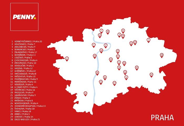 V Praze má řetězec již všechny prodejny v novém designu, stálo to zhruba 200 milionů korun. Zdroj: Penny Market