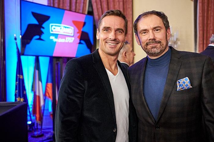 Roman Šebrle a Emanuel Ridi na Cin Cin večeru na italské ambasádě, foto: Bison & Rose
