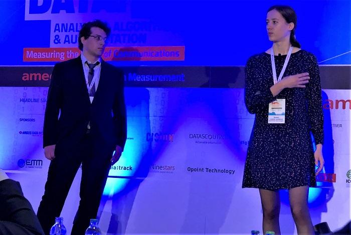 Martin Španěl a Ludmila Tydlitátová na konferenci AMEC, foto: MediaGuru.cz