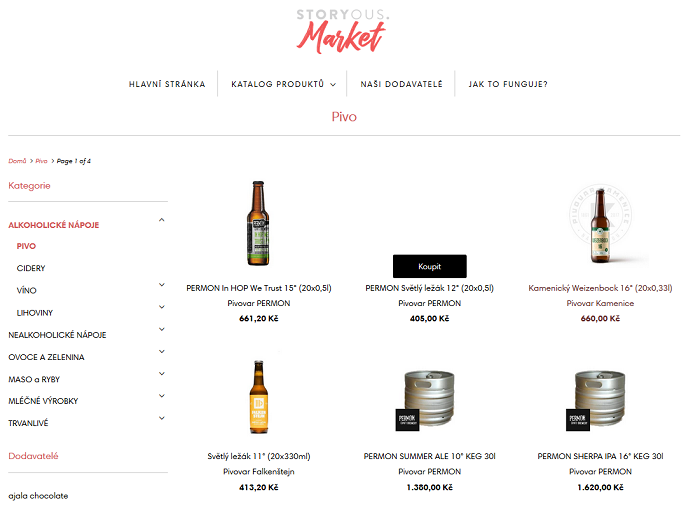 Náhled e-shopu Storyous Market, zdroj: Storyous