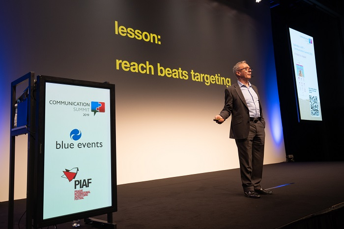 Les Binet na konferenci Communication Summit 2019, foto: Blue Events