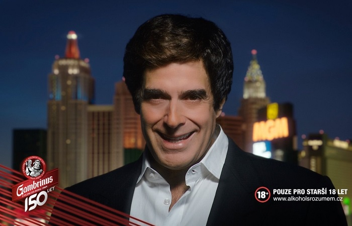 David Copperfield se stal tváří kampaně značky Gambrinus, zdroj: Triad Advertising