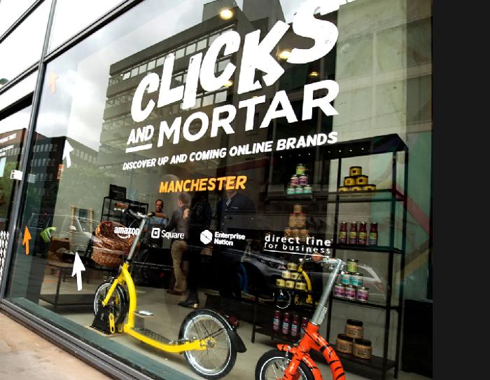 První obchod Clicks and Mortar byl otevřen v Manchesteru. Zdroj: The Guardian (Anthony Devlin/PA)