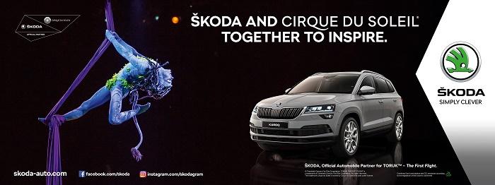 Klíčový vizuál k partnerství automobilky Škoda Auto a Cirque du Soleil, zdroj: Škoda Auto