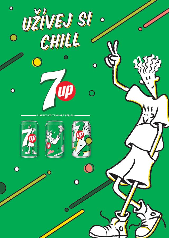 Klíčový vizuál aktuální kampaně značky 7Up, zdroj: PepsiCo