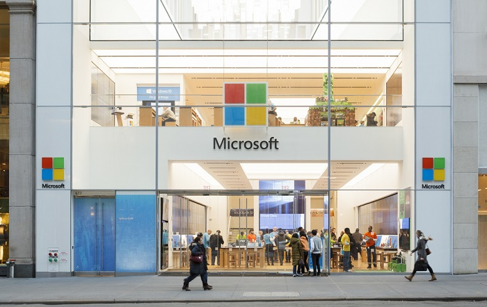 Takto vypadá obchod Microsoftu v americkém New Yorku. Zdroj: Shutterstock