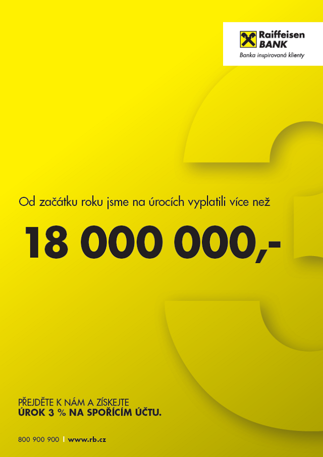 Klíčový vizuál k nové kampani, zdroj: Raiffeisenbank