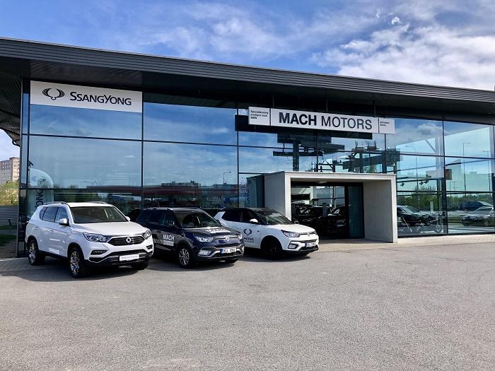Dealerství SsangYong Mach Motors v Českých Budějovicích, zdroj: SsangYong