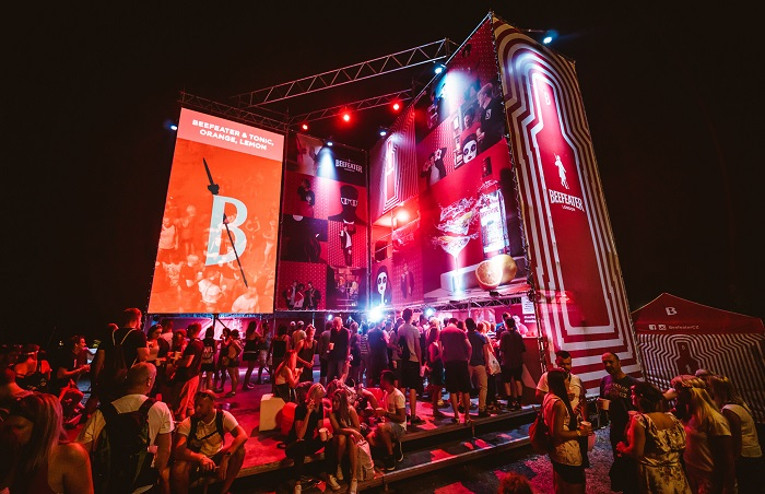 Bar Beefeater na Colours of Ostrava, zdroj: Pernod Ricard