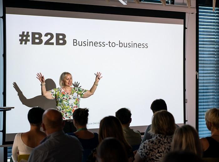 Lucie Zaki na setkání B2B marketingových profesionálů, foto: Milan Mošna