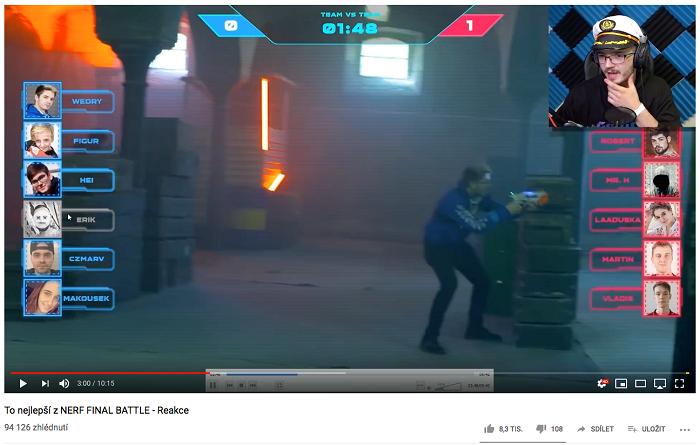 Záznam z turnaje následně komentovali i zapojení hráči na YouTube, zdroj: Triad Advertising.