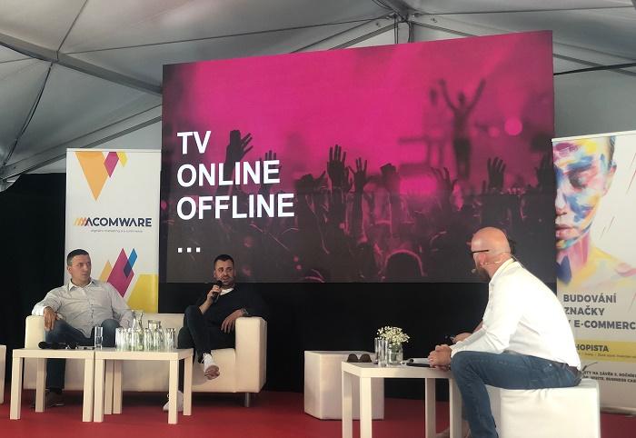 Radek Ondrášík a Oldřich Dostál na konferenci Eshopista, foto: MediaGuru.cz