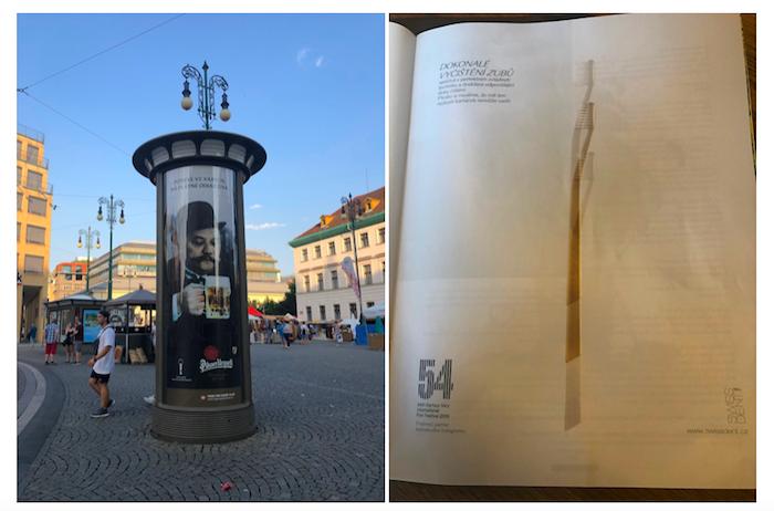 Ukázky reklam, v nichž se partneři hlásí ke karlovarskému festivalu, foto: MediaGuru.cz.