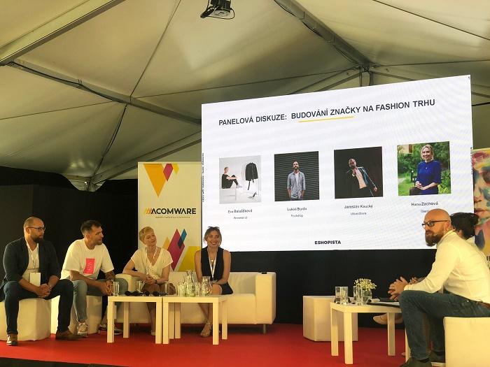 Panelová diskuse na téma Budování značky na fashion trhu v rámci Eshopisty, foto: MediaGuru.cz