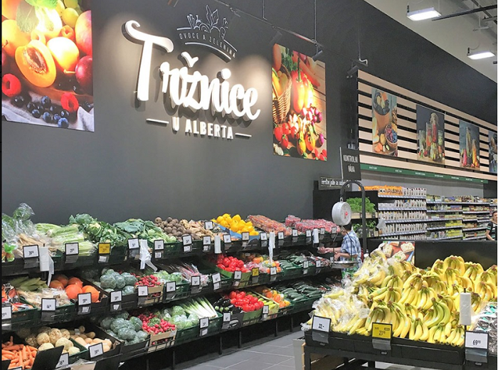 Hypermarket Albert v Metropili Zličín je prvním z osmi, které letos řetězec zmodernizuje. Zdroj: FB Albert