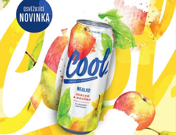 Do řady pivních mixů přidává Cool příchuť Jablko a hruška, zdroj: Pivovary Staropramen.