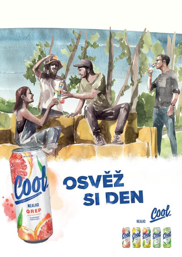 Ukázka klíčového vizuálu nové kampaně značky Cool, zdroj: Pivovary Staropramen